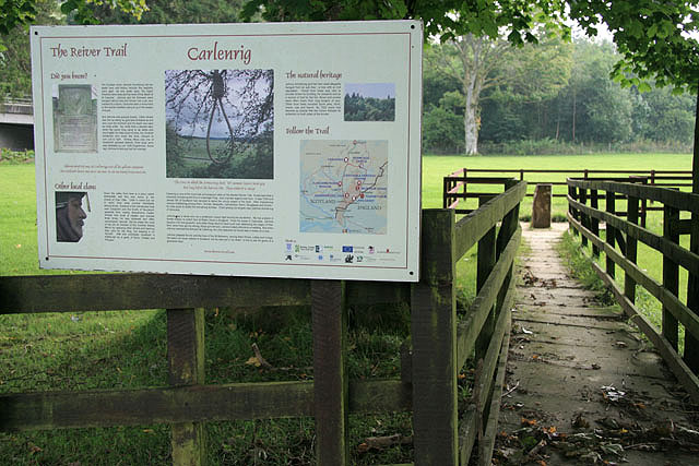 A reiver trail information board