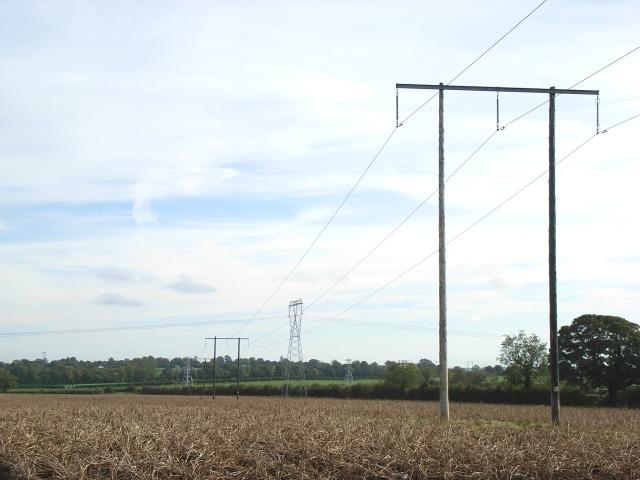 110kV Power line at Graigs, near Navan, Co. Meath