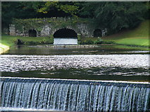 SE2768 : Studley Royal - Rustic Bridge and Two Weirs by Terry Robinson