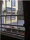 SD3598 : Hawkshead Relish Company through a window by Darrin Antrobus