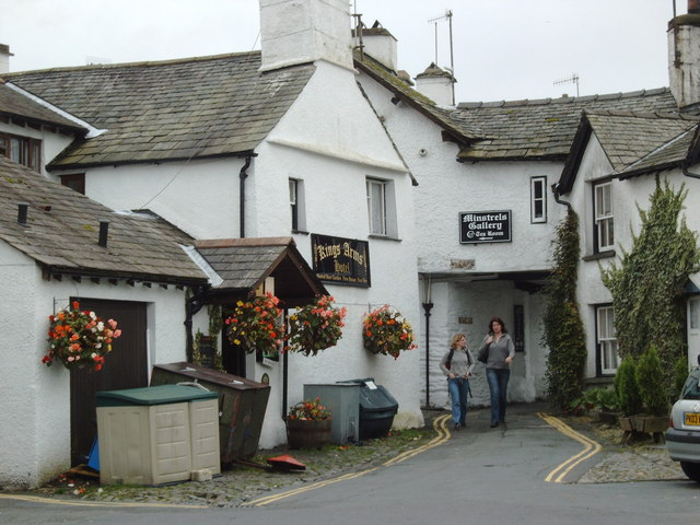 In back of the King's Arms, Hawkshead
