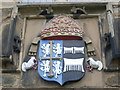 NZ2742 : Durham Castle - external Coat of Arms by Nick Mutton