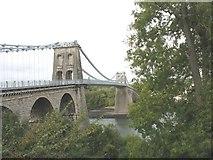SH5571 : Pont y Borth from the County of Gwynedd side by Eric Jones