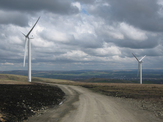 Turbine Towers 2 and 4 on Scout Moor
