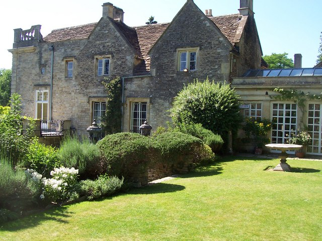 Back of Iford Manor, from Peto Garden