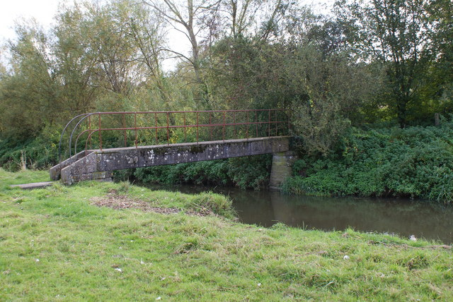 Footbridge Over the River Cary