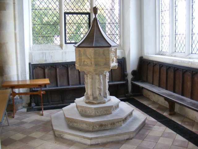 The Font in St.Peter's Church,Sibton