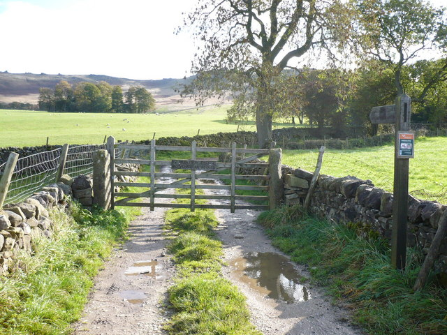 Bridleway up to Rylstone Cross and Cracoe Fell