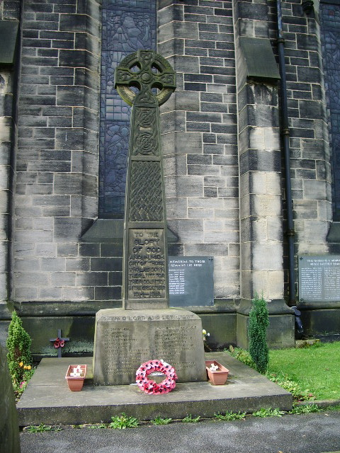 Parish Church of Hebden Bridge, St James the Great, War Memo