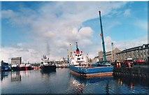 NJ9505 : Victoria Dock by Andrew Wood