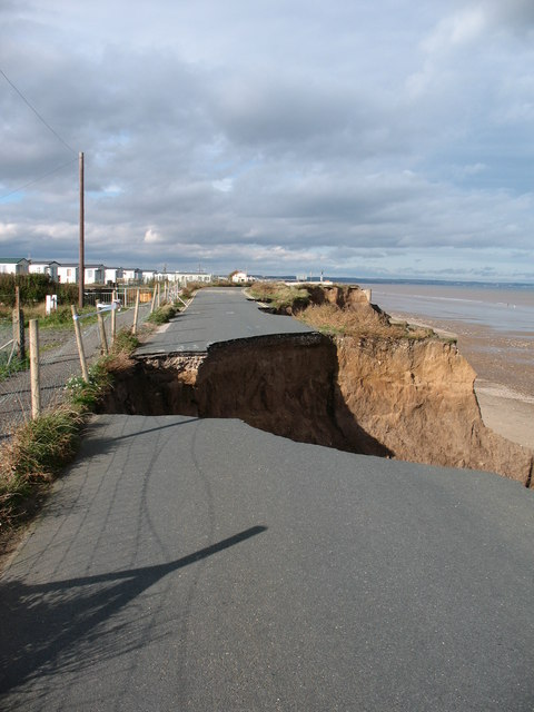 Coast erosion at Cobble Gap
