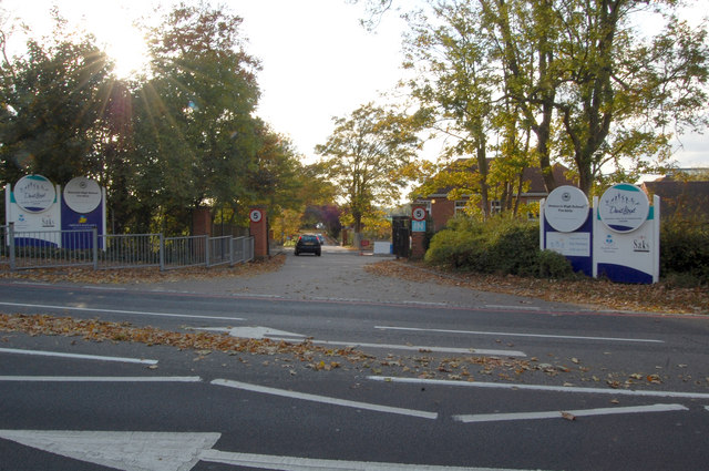 Entrance to Nonsuch High School for Girls