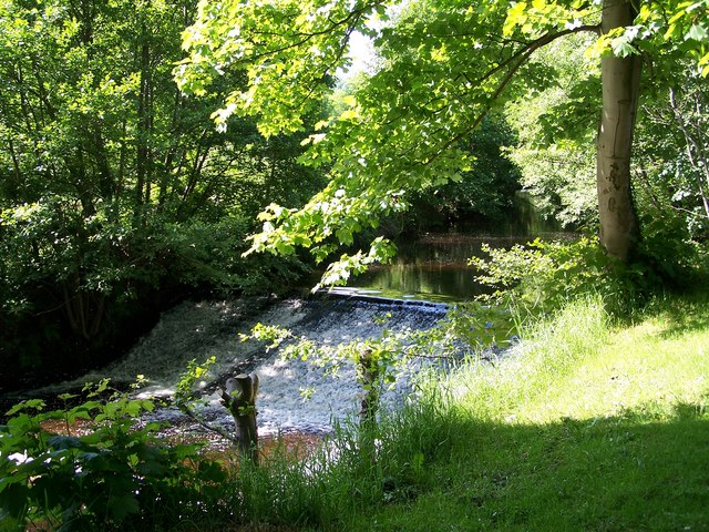 River Loxley Weir near Loxley Fisheries