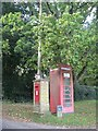 SU2710 : Minstead: postbox № SO43 38 and phone, Newtown by Chris Downer