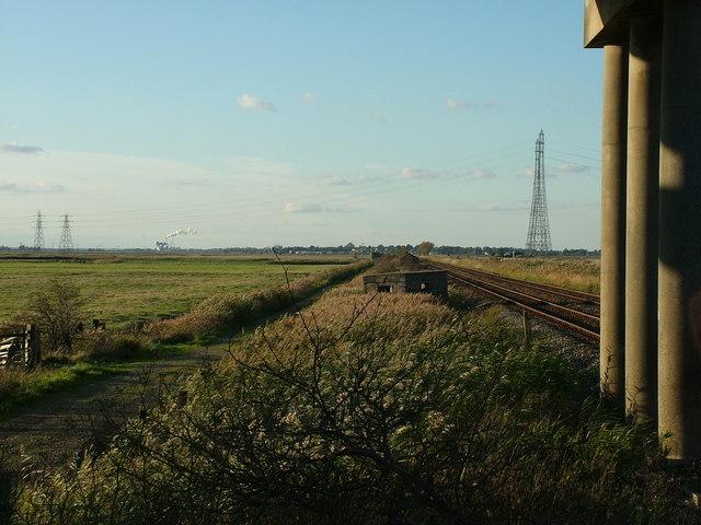 Railway and pillbox, Haddiscoe