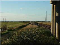 TM4599 : Railway and pillbox, Haddiscoe by John Goldsmith
