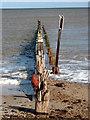 TG4722 : Well worn wooden groyne by Evelyn Simak
