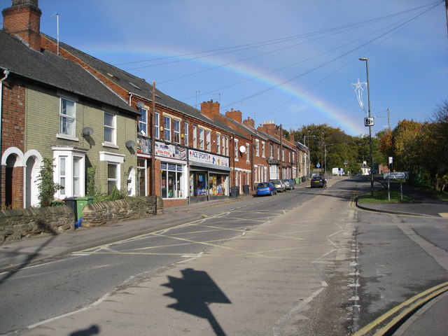 Staveley - Duke Street with a Rainbow