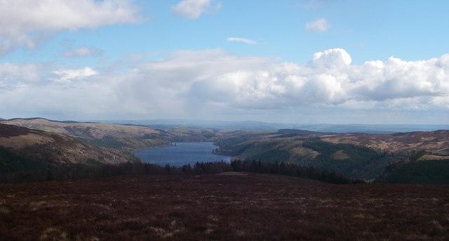 Lake Vyrnwy from Allt yr Eryr (542m)