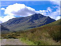 NN2626 : Ben Lui (1130m) from the River Cononish by Adele