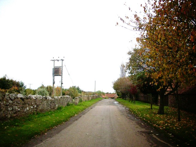 Minor road in East Lothian.