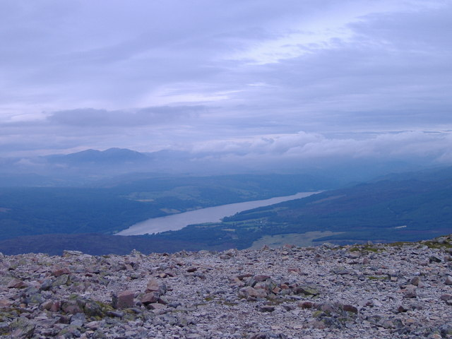 Loch Tummel from Schiehallion (1085m)