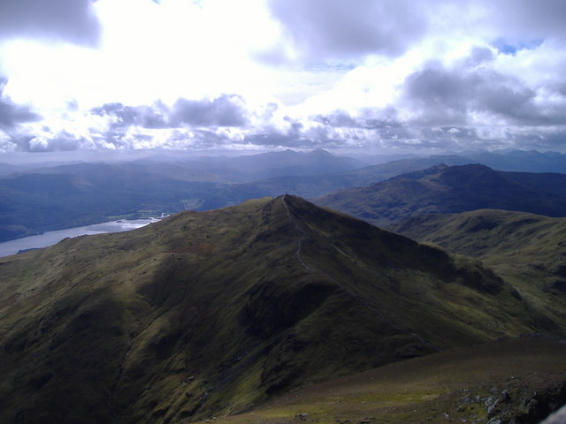 Beinn Ghlas (1066m) from Ben Lawers (1214m)