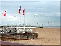 TG5307 : Cafe, Great Yarmouth beach by John Goldsmith