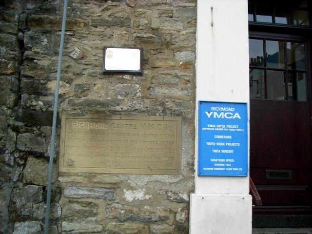 Richmond YMCA Hostel Plaque