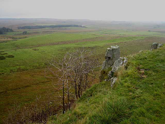 Looking north from Sewingshields Crags