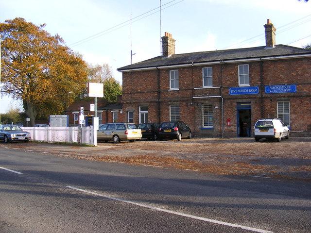 Melton Railway Station & Railway Station Postbox