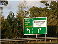 TM2547 : Roadsign on A12 Martlesham bypass by Adrian Cable