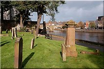 NS3321 : Riverside Graveyard by Mary and Angus Hogg
