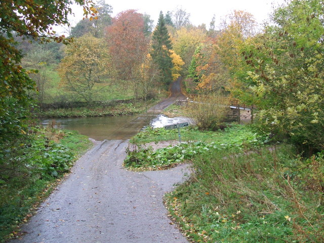 Autumnal colours at the ford on the R.Lyvennet