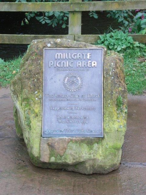 Millgate Picnic area monument