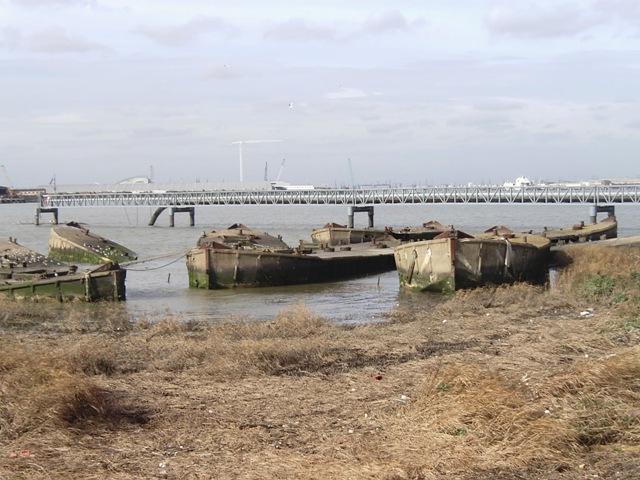 Ferro-concrete barges, Rainham waterfront