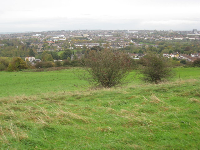 On Pur Down, looking SE over the M32 to Stapleton & Fishponds
