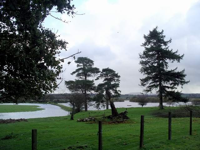 Flooding near Halleaths