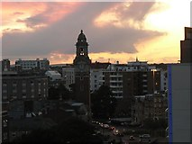SZ0991 : Bournemouth: fiery sky over the Lansdowne by Chris Downer