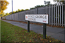 TQ2996 : Prince George Avenue, London N14 by Christine Matthews