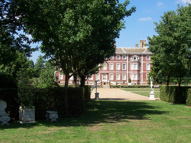 Ham House from hedge garden