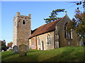 TM2247 : All Saints Church, Little Bealings by Adrian Cable