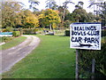 TM2347 : Entrance to Little Bealings Bowls Club by Adrian Cable
