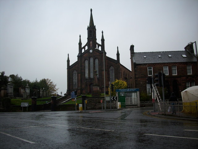 St. Mary's Greyfriars overlooks the junction