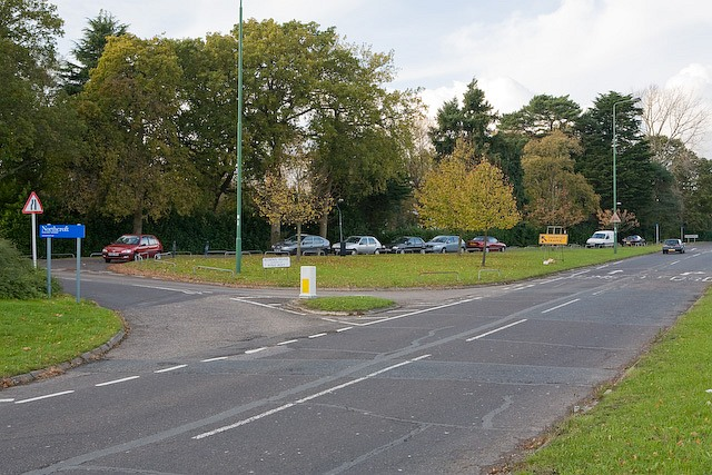 Roman Road joins Chilworth Road (A27)