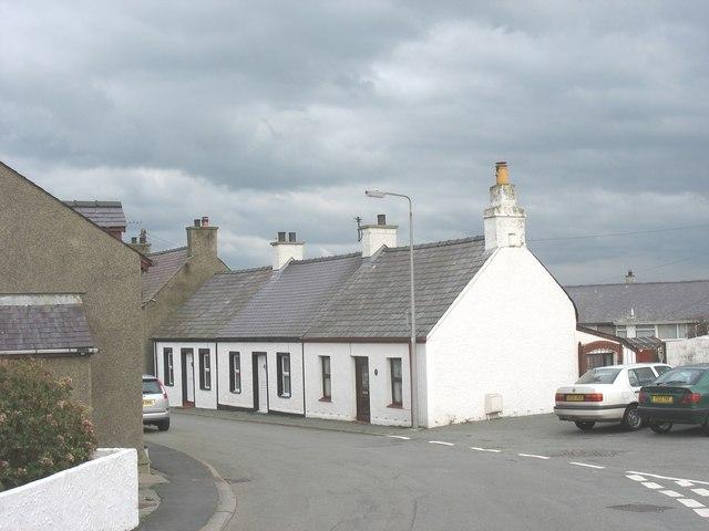 Terraced cottages in Stryd yr Eglwys (Church Street), Aberffraw