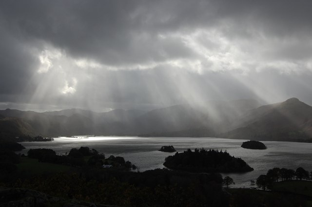 Derwent Water from Castlehead Wood Viewpoint