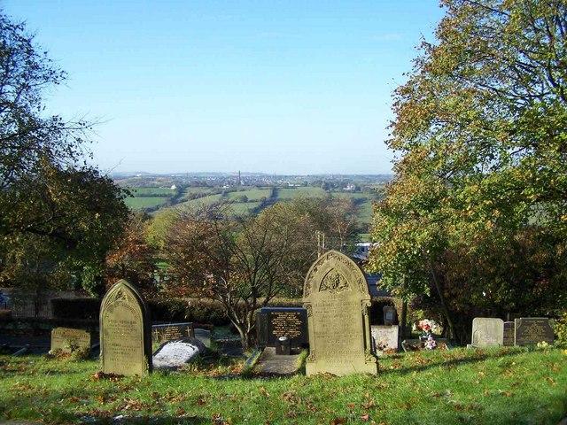 View From Churchyard, St. Anne, Brown Edge