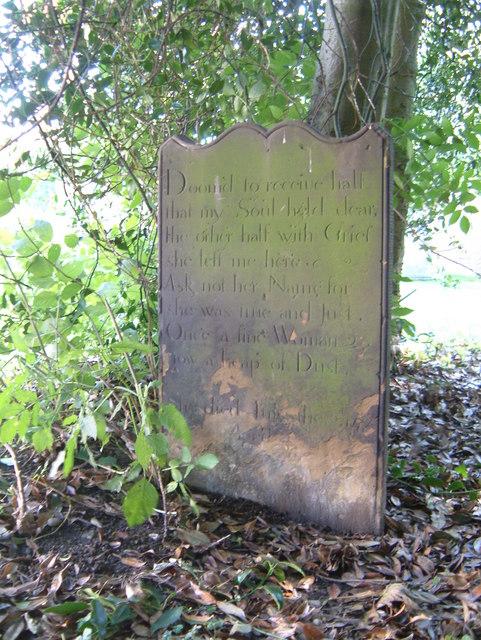 A strange epitaph.....