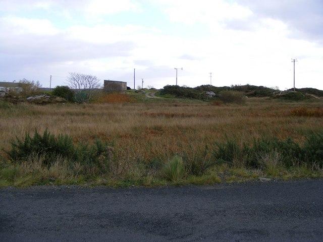 Rough grazing and small wind turbine - Keadew Townland